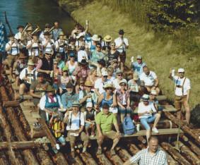 Floßfahrt Isar Blaskapelle Raisting