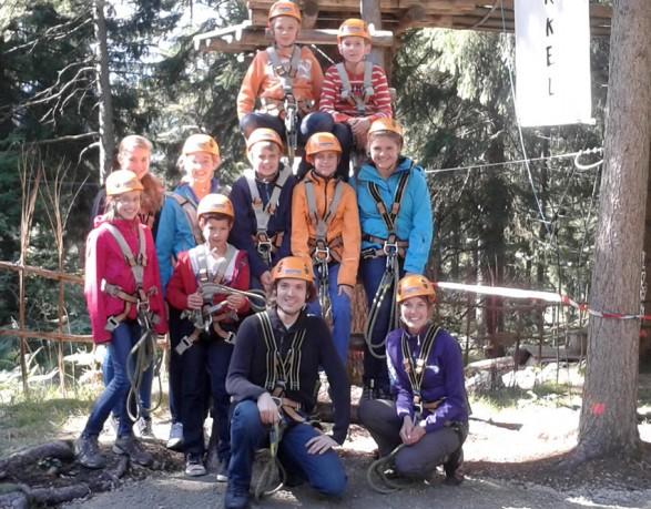 Ausflug Kletterwald Garmisch
