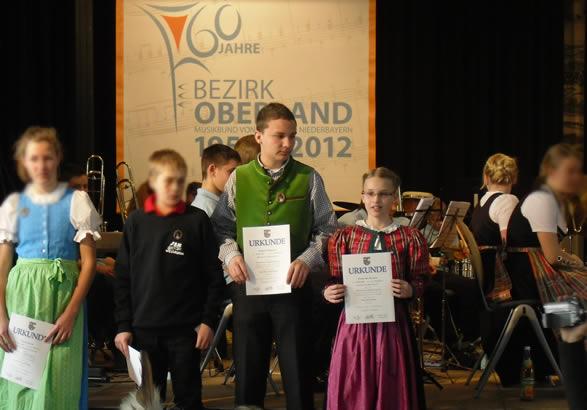 D1 Verleihung 2013 an Musiker der Blaskapelle Raisting